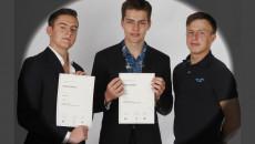 Petr Blaško, Ondřej Hylena, Ondřej Kolář 7.A, úspěšná reprezentace školy v celostátní soutěži Studentský Summit OSN