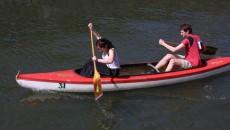 Triatlon - závod dvojic - kanoe