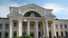 Vlakové nádraží v Čopu