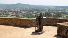 Pohled na Mukačevo z hradu Palanok
